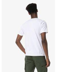メンズ Sophnet カモフラージュ ロゴ Tシャツ White