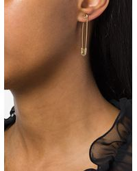 Ileana Makri - Metallic Safety Pin Earring - Lyst