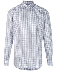Ermenegildo Zegna Blue Traveller Shirt for men