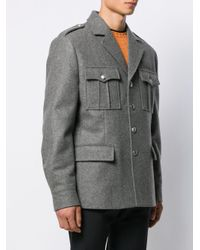 Prada Gray Loden Military Jacket for men
