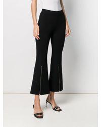 Stella McCartney Black Hose mit Reißverschlüssen