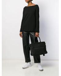 Borsa tote K/Ikon di Karl Lagerfeld in Black