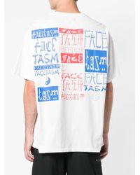 Facetasm Oversized Printed T-shirt White
