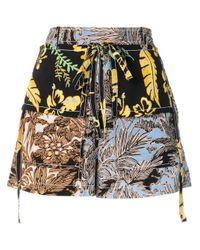 Shorts patchwork di 3.1 Phillip Lim in Black