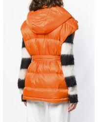 Gilet matelassé oversize Perfect Moment en coloris Orange