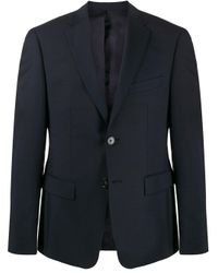 Harmony Blue Single-breasted Fitted Blazer for men