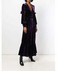 Raquel Diniz Purple Abendkleid mit Taillenband