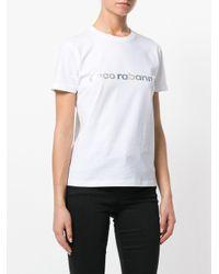 Slogan front T-shirt Paco Rabanne en coloris White