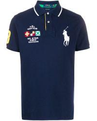 メンズ Polo Ralph Lauren パッチディテール ポロシャツ Blue
