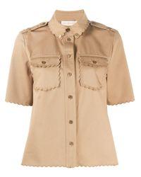 Саржевая Рубашка Tory Burch, цвет: Natural