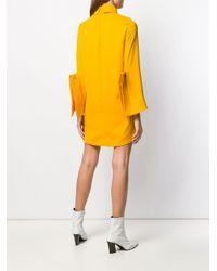 Robe courte à design structuré Erika Cavallini Semi Couture en coloris Yellow