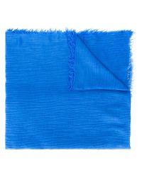 Écharpe à logo brodé Polo Ralph Lauren en coloris Blue