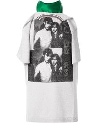 Raf Simons Metallic Layered Style T-shirt
