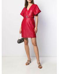 Pinko Red Minikleid mit Gürtel