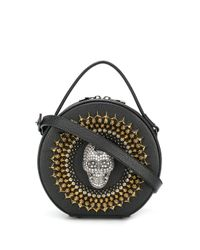 Philipp Plein Black Handtasche mit Kristallen