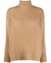 High-neck cashmere jumper di Societe Anonyme in Natural