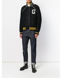 Gucci - Black Signature Bomber Jacket for Men - Lyst