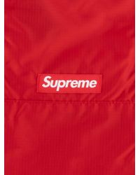 メンズ Supreme ロゴパッチ バックパック Red