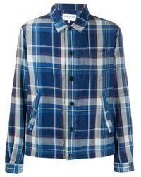 Camicia tartan di YMC in Blue da Uomo
