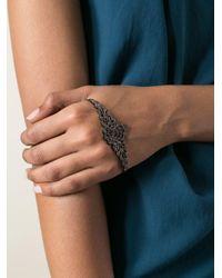Gaydamak Black Koral Hand Bracelet