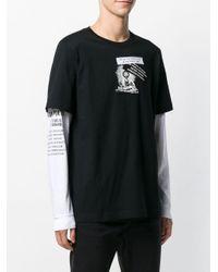 メンズ DIESEL レイヤード Tシャツ Black