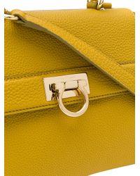 Ferragamo | Yellow Small Sofia Tote | Lyst