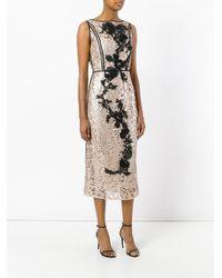 Antonio Marras | Multicolor Metallic Lace Dress | Lyst