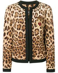 Piumino con motivi animalier di Dolce & Gabbana in Multicolor
