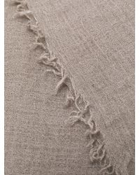 Rick Owens Gray Cashmere Scarf for men