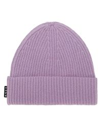Hope - Purple Ribbed Knit Beanie - Lyst