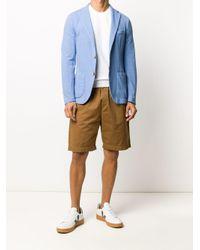 Altea Blue Single Breasted Blazer for men