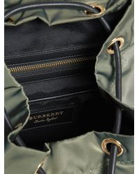 Burberry - Green Medium Rucksack Backpack - Lyst
