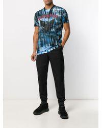 メンズ DSquared² タイダイ プリント Tシャツ Blue