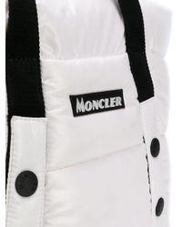 Sac cabas à design matelassé et patch logo Moncler en coloris White