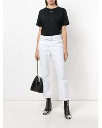 Off-White c/o Virgil Abloh White Belted Cropped Jeans