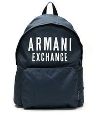 メンズ Armani Exchange ロゴ バックパック Blue