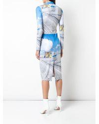 Natasha Zinko プリント ドレス Blue