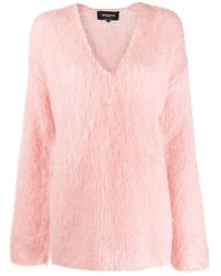 Rochas Vネック セーター Pink