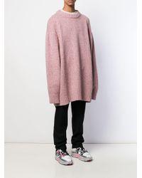 Maison Margiela Oversized-Pullover in Pink für Herren