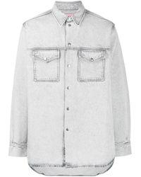 Acne Multicolor Denim Stonewashed Shirt