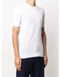 メンズ Fedeli ニット Tシャツ White