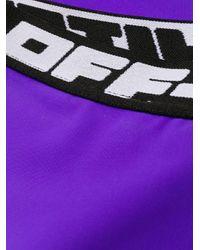 Off-White c/o Virgil Abloh ワンショルダービキニ Purple