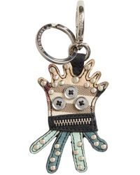 Burberry - Multicolor Creature Haymarket Check Keyring - Lyst