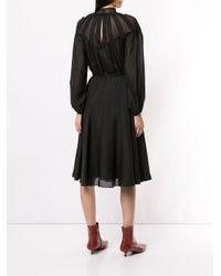 Calvin Klein ロングスリーブ シャツドレス Black