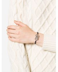 Gemco Black Diamond Peace Charm Bracelet