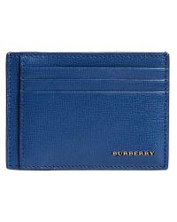 Burberry - Blue London Money-clip Cardholder for Men - Lyst