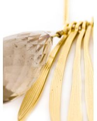 Wouters & Hendrix Metallic 'bamboo' Rutilated Quartz Necklace