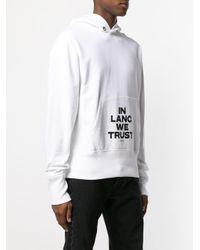 Sweat imprimé à capuche Helmut Lang pour homme en coloris White