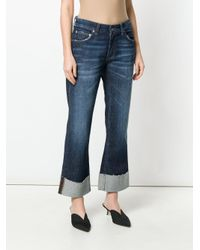 Department 5 Blue Faded Cropped Jeans