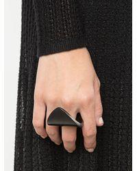 Monies Black Bending Ring